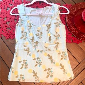 Beautiful Loft tank top with floral design